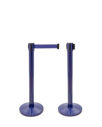 Poteau Séparateur avec Bande Extensible Bleu
