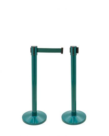 Poteau Séparateur avec Bande Extensible Vert
