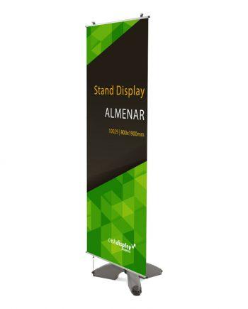 Banner Exterior Almenar Con Base Rellenable