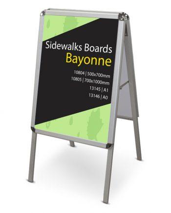 Caballete Publicitario de Aluminio de Doble Cara Bayonne
