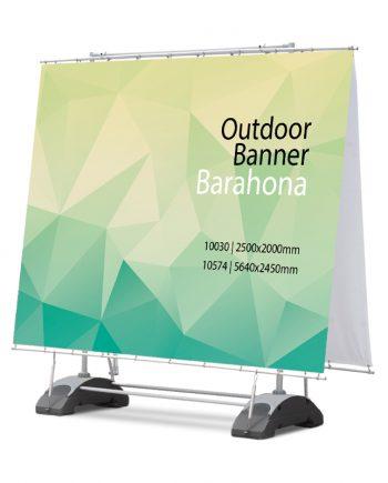 Banner Exterior con Base Rellenable Barahona